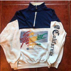 Other - Vintage Quarter Zip San Francisco Sweater! MEDIUM